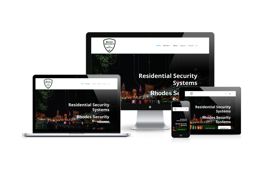 Residential Security Systems Web Design - Cleveland, OH